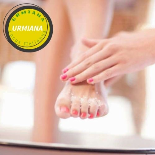 Salt for pedicures and manicures