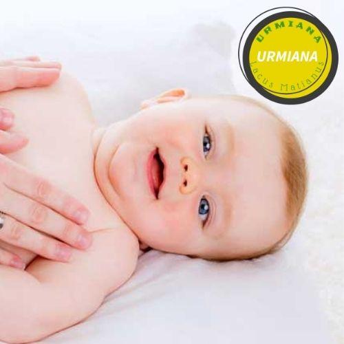 Massage the baby with sea salt